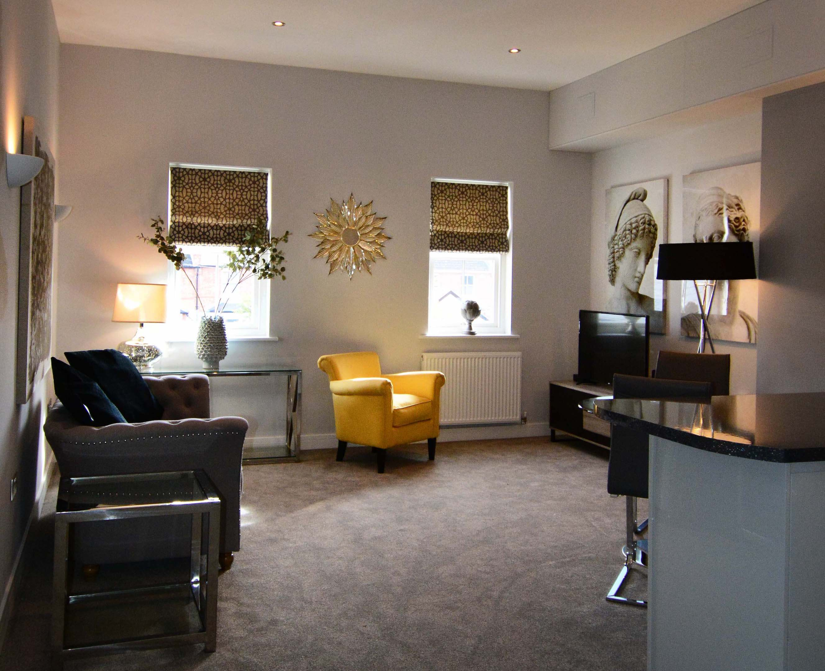 Leamington Spa Serviced Apartment Stratford Suite Living Two