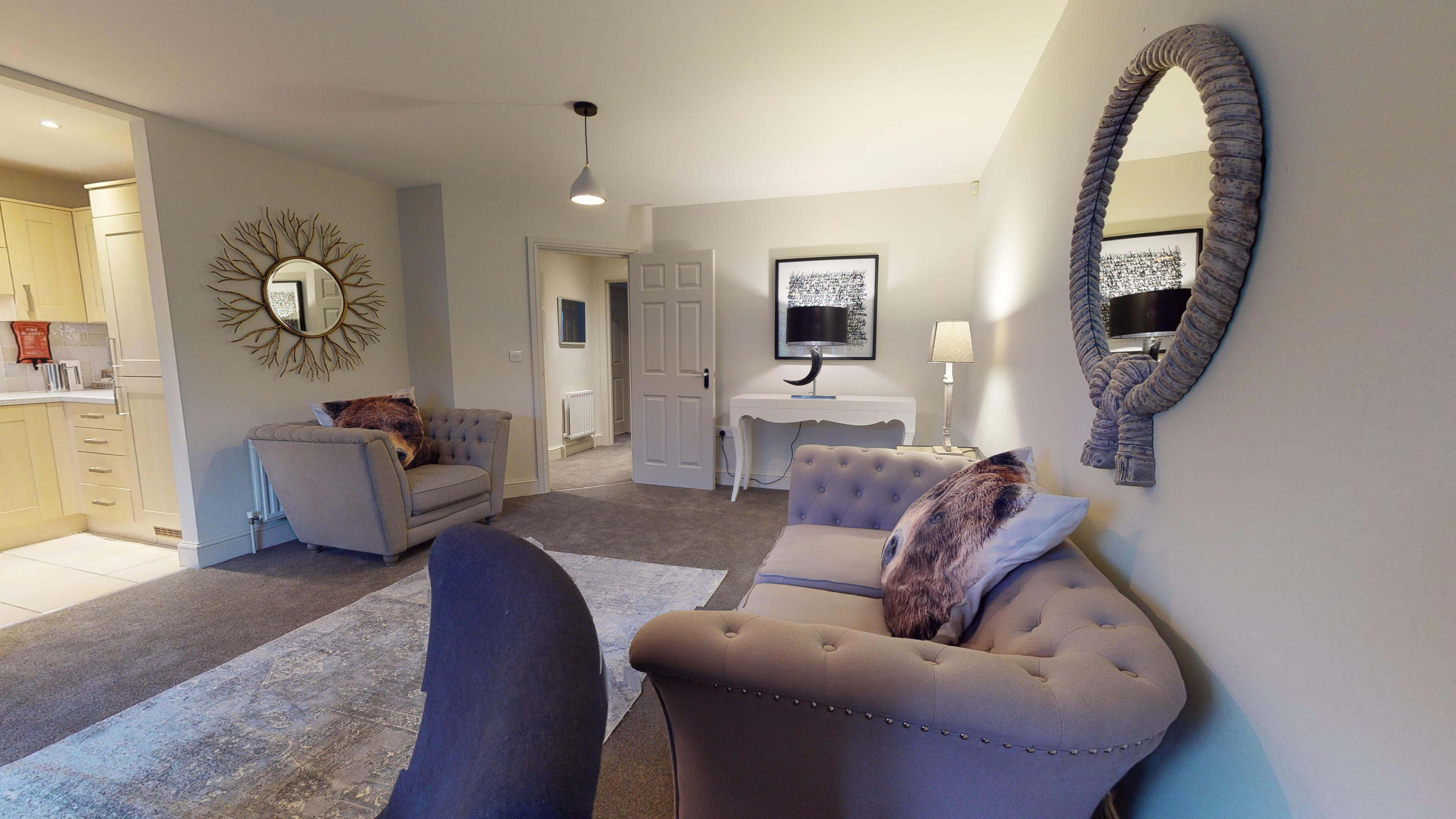 Oxford Serviced Apartment Blenheim Suite Living Two