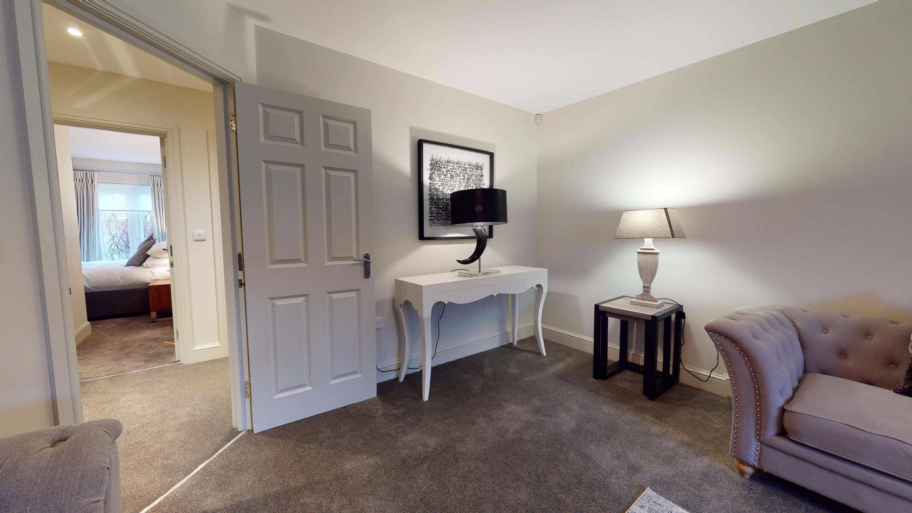 Oxford Serviced Apartment Blenheim Suite Living Hall View