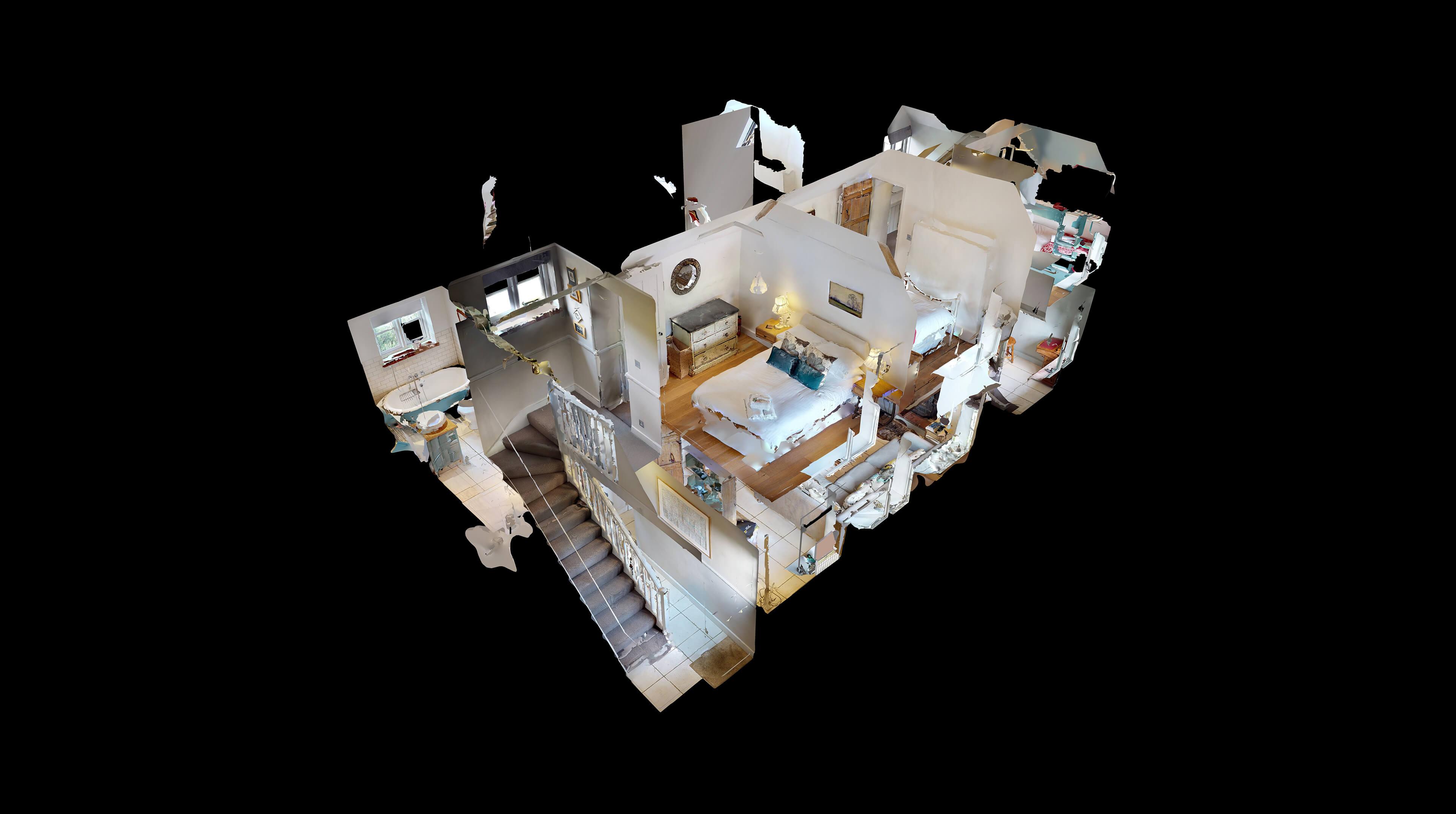 Lower Heyford Three Bedroom Coopers Cottage Dollshouse