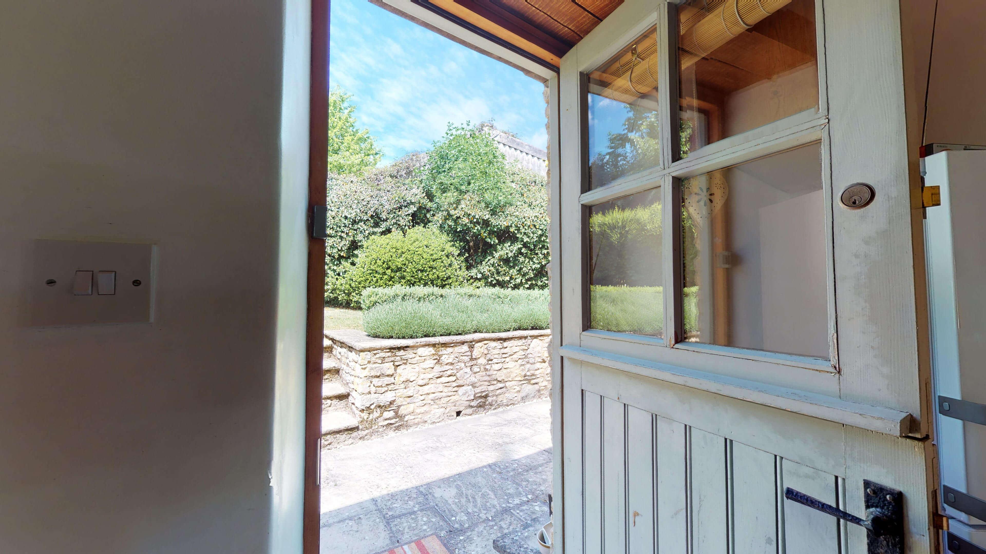 Butlers Stall Rear Door View
