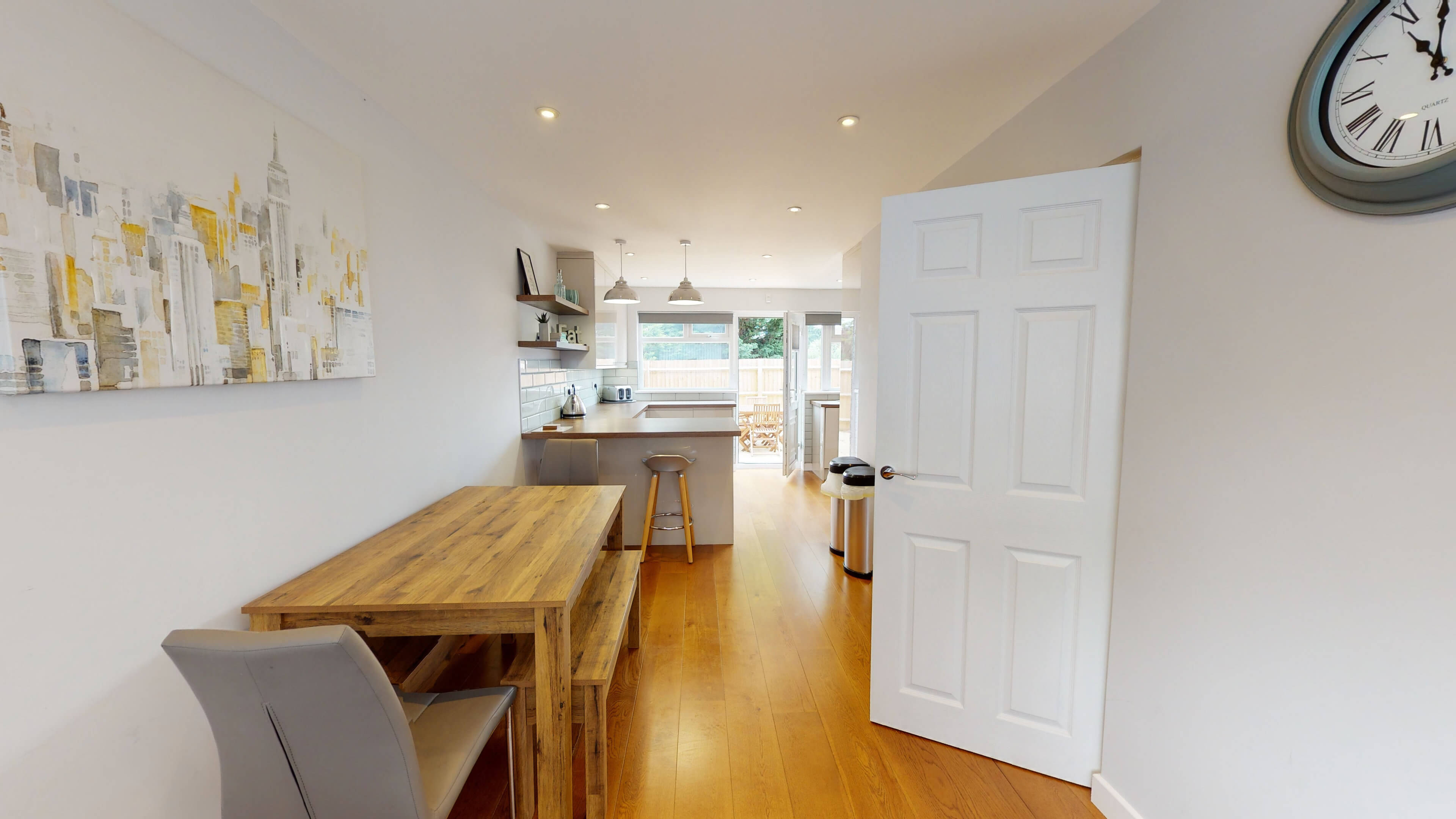 Hollow Way House Kitchen With Dining Area1