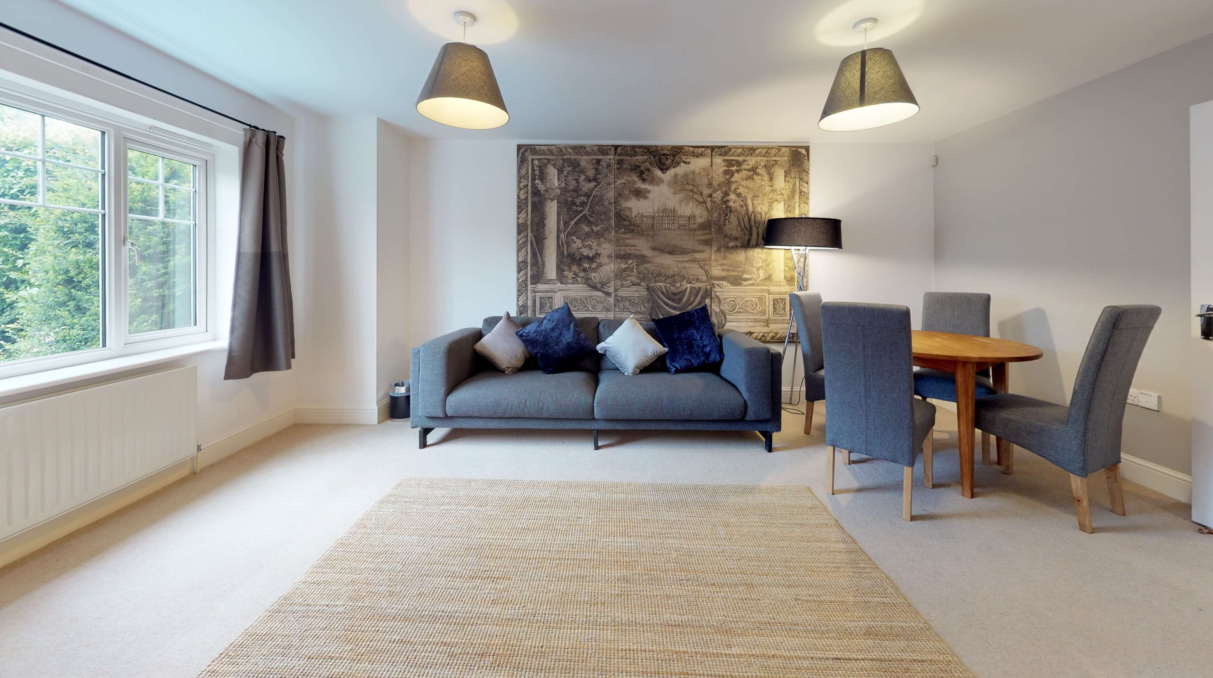 Oxford Serviced Apartments Hensington Suite Living Room Wide