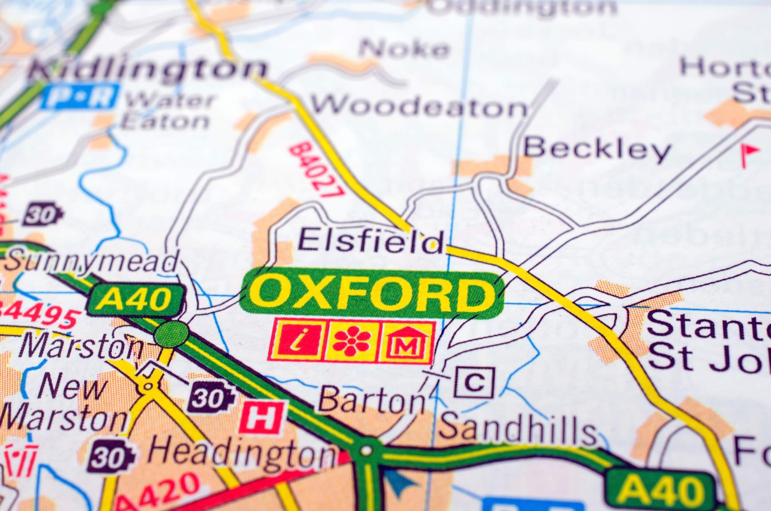 Oxford Short Lets Map Small Istock