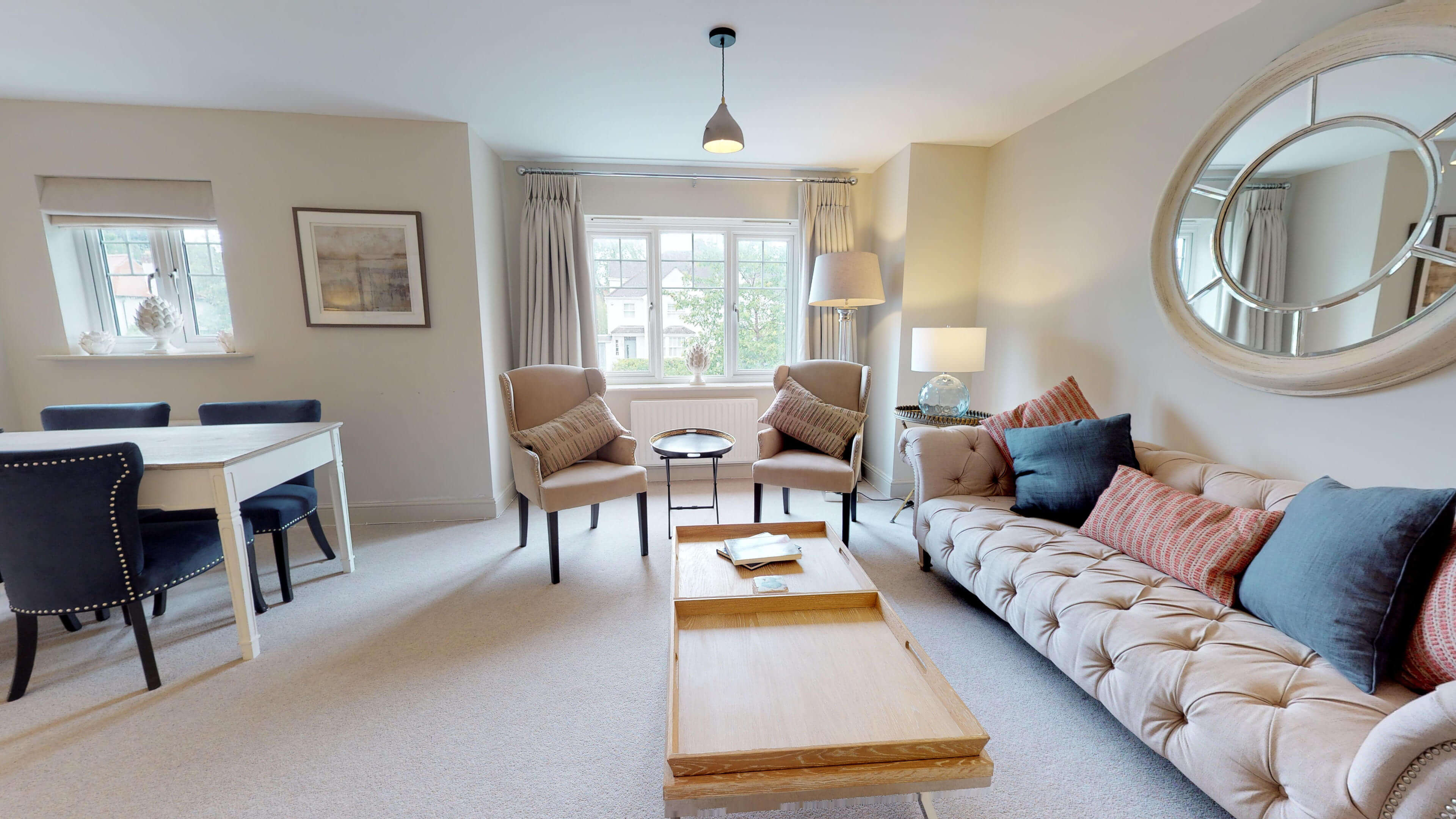 Oxford Serviced Apartments Hensington Suite Living Room Front View