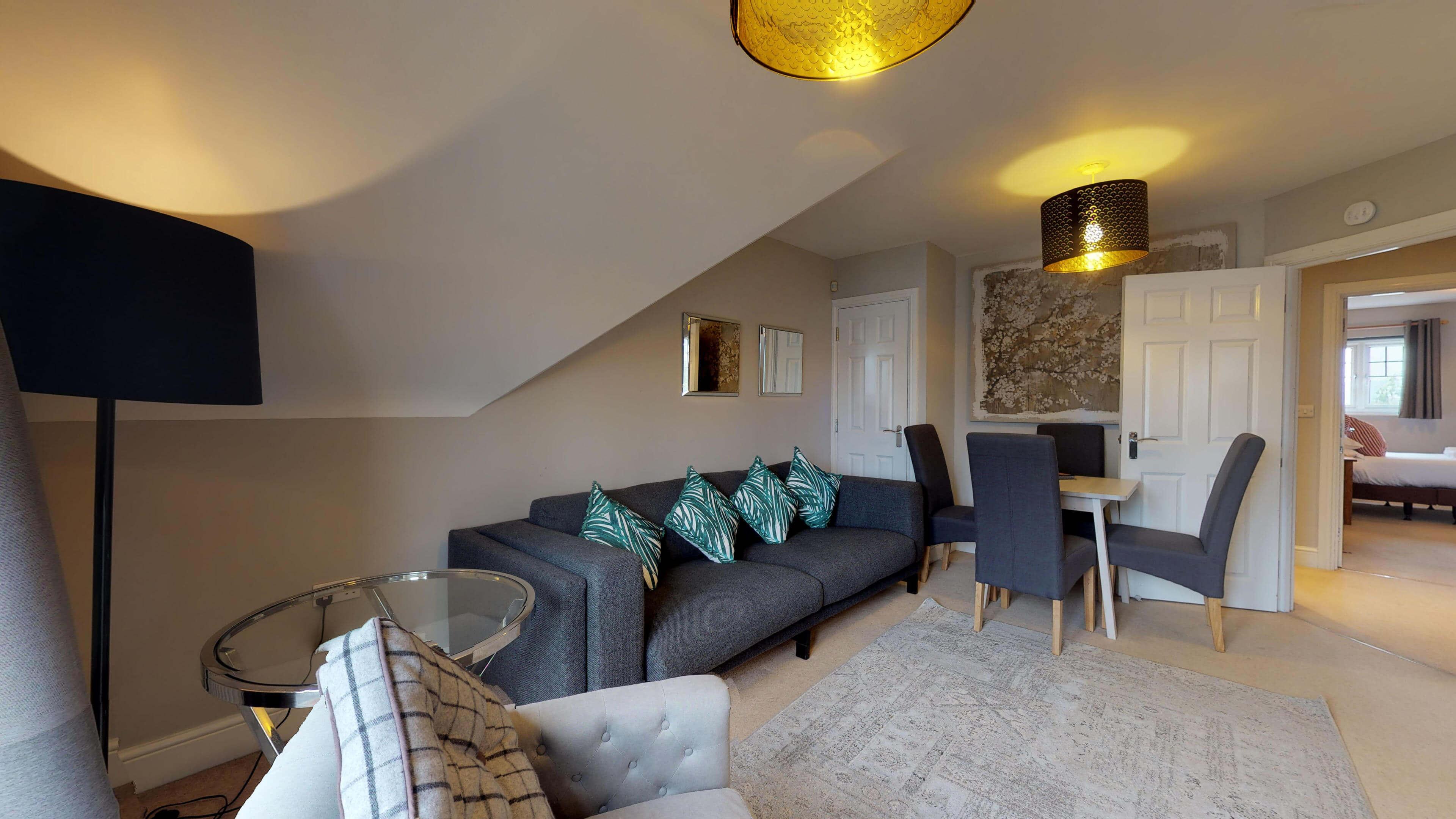Oxford Serviced Apartment Vanbrugh Spencer Suite Living Room Sideview